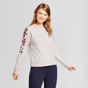Target A New Day Gray Embroidered Sweatshirt Sz XL